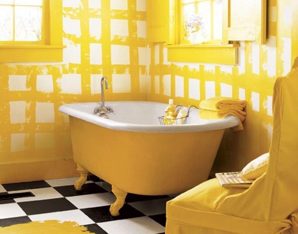 Stylish Yellow Bathroom