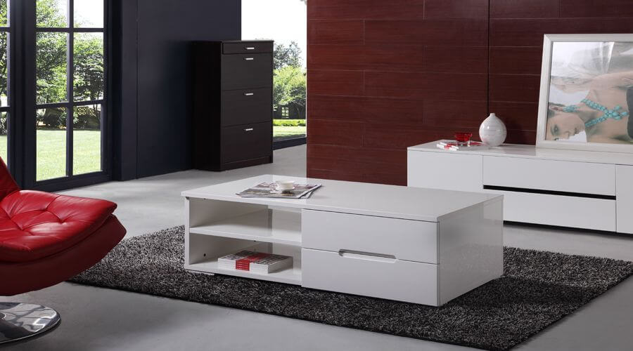 White Laquer Coffee Table