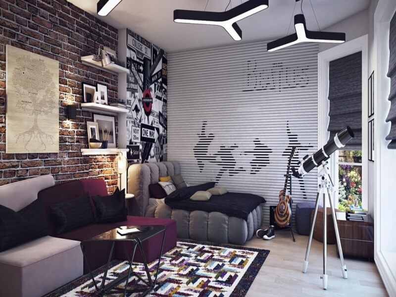 10 cool teenage boy 39 s bedroom interior design ideas for Cool tween bedroom ideas