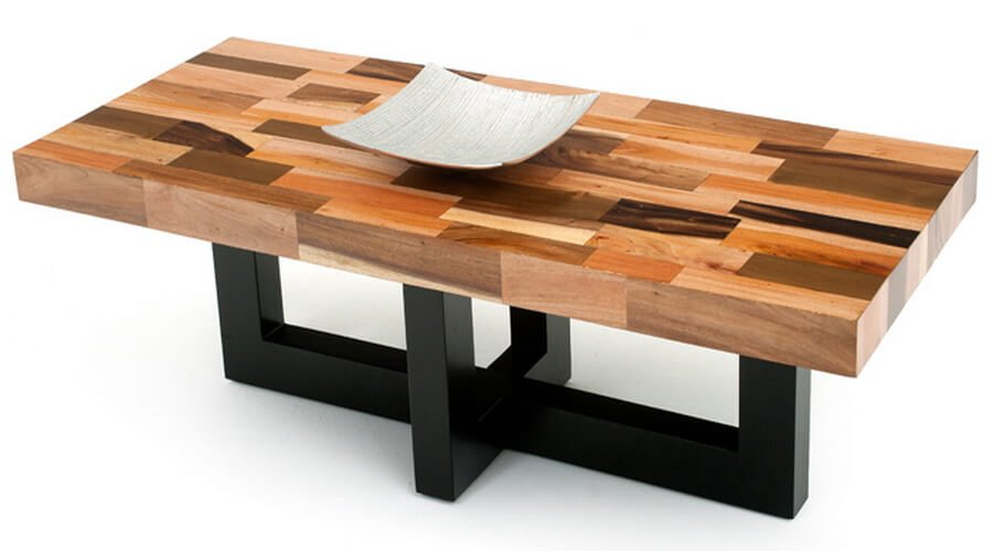 10 contemporary coffee table design ideas for living room for Coffee table wood