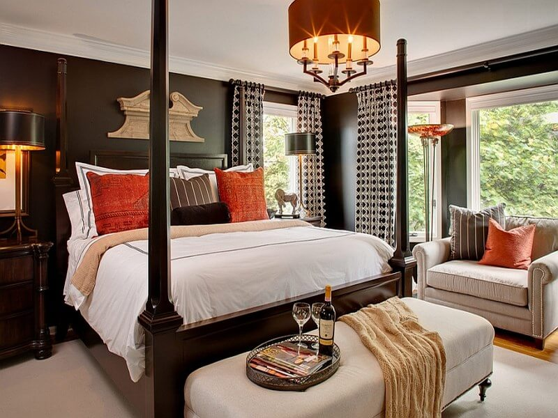 orange-accents-for-the-black-and-white-bedroom