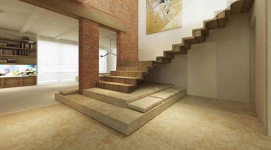 Bold Contemporary hallway