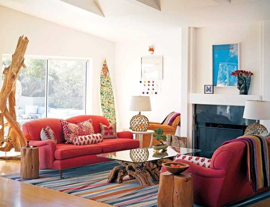 Bright Boho Chic Living Room