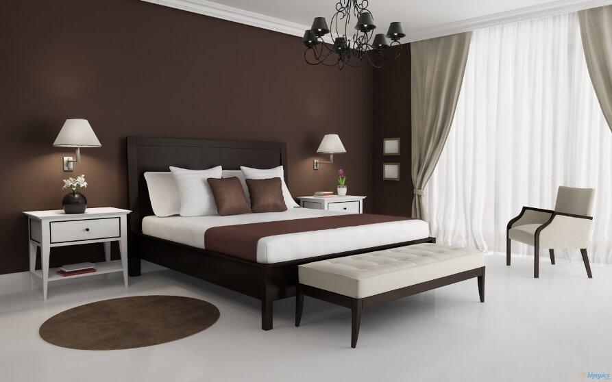 Brown Elegant Bedroom