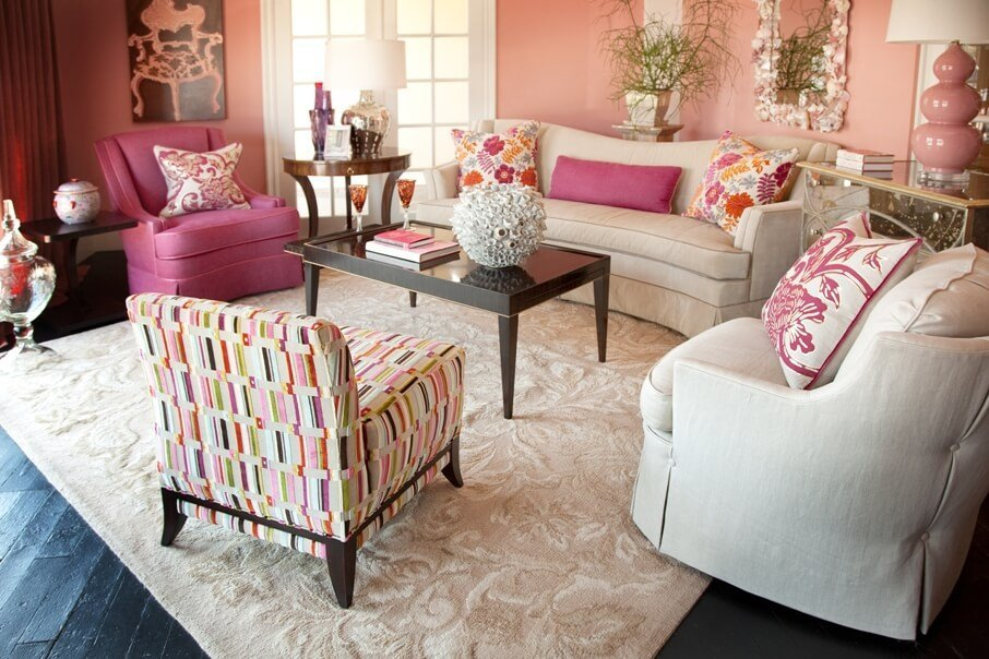 Casual Pink Livign Room