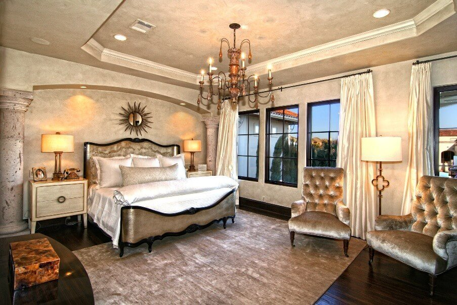 Dramatic Elegant Bedroom