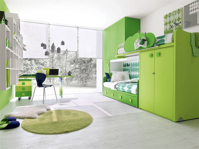 Green Boy's Bedroom