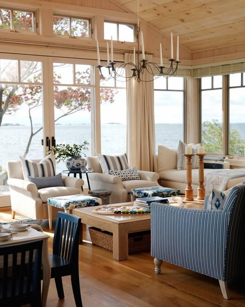 Coastal coastal living room design ideas bright coastal living