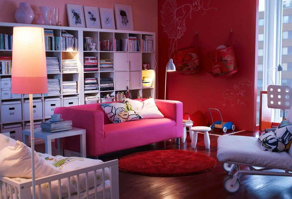 10 amazing pink living room interior design ideas https for Room design ideas pink