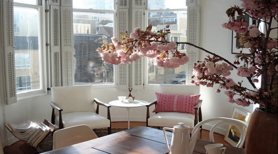 Pastel Pink Living Room