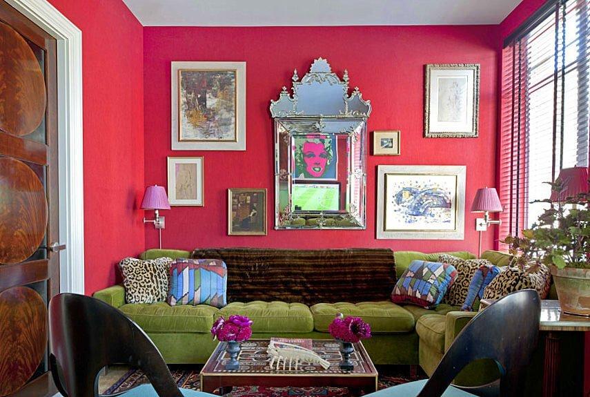 Pop Art Pink Living Room