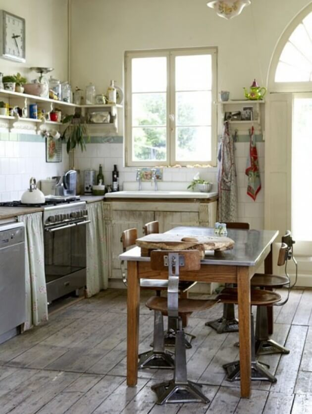 10 cool industrial kitchen interior design ideas - French farmhouse style ...