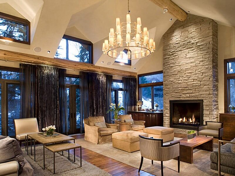 10 beautiful mediterranean interior design ideas https - Modern fireplace living room design ...