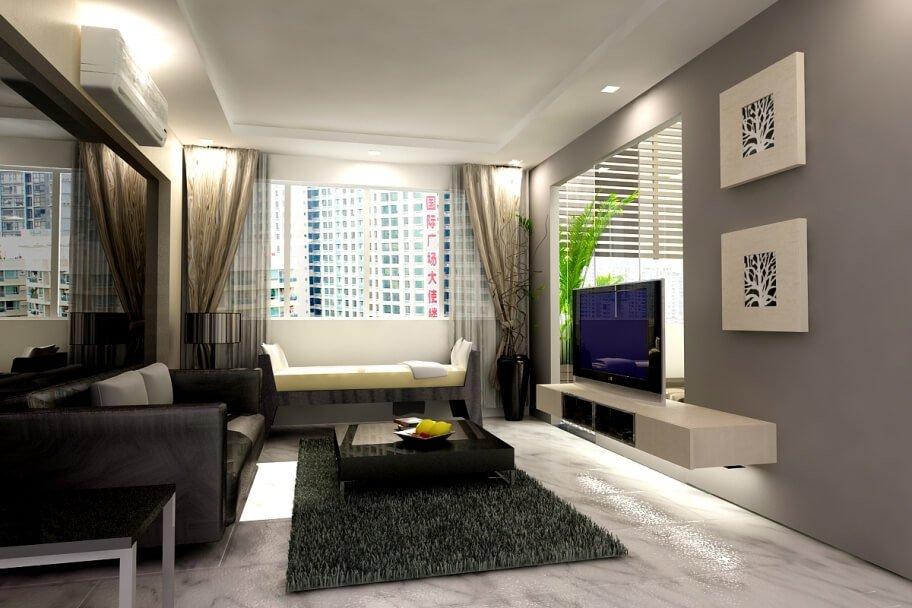 Sleek Gray Living Room