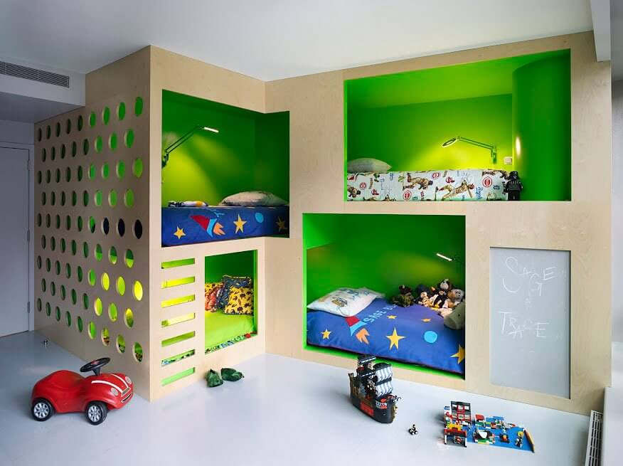 Smart Green Boy's Bedroom