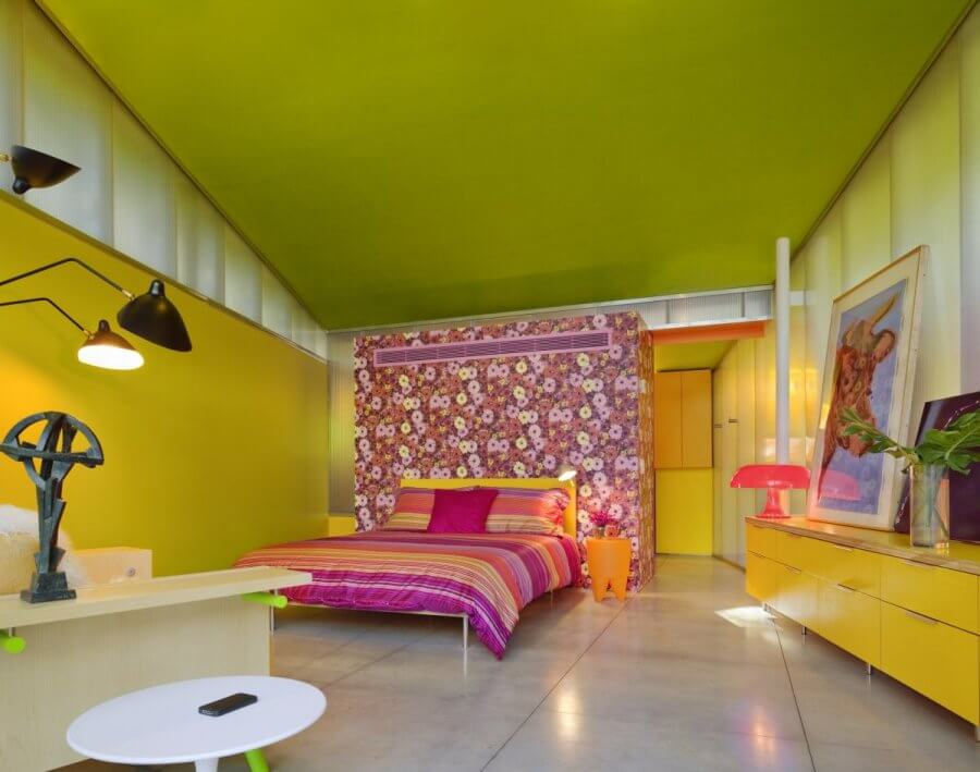 Spacious Colorful Bedroom