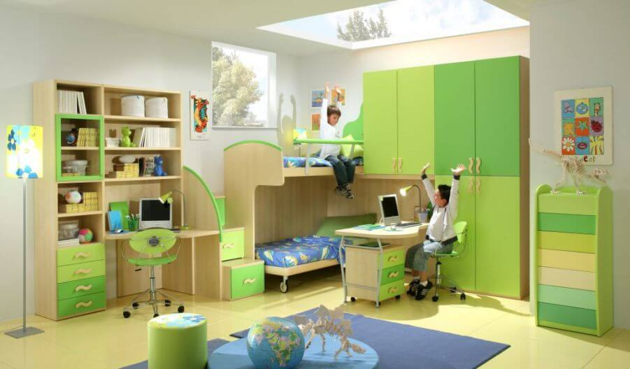 Super Cool Green Boy's Bedroom
