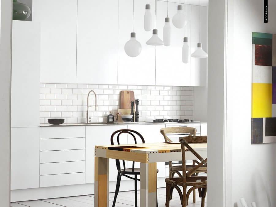 White Scandianvian Kitchen
