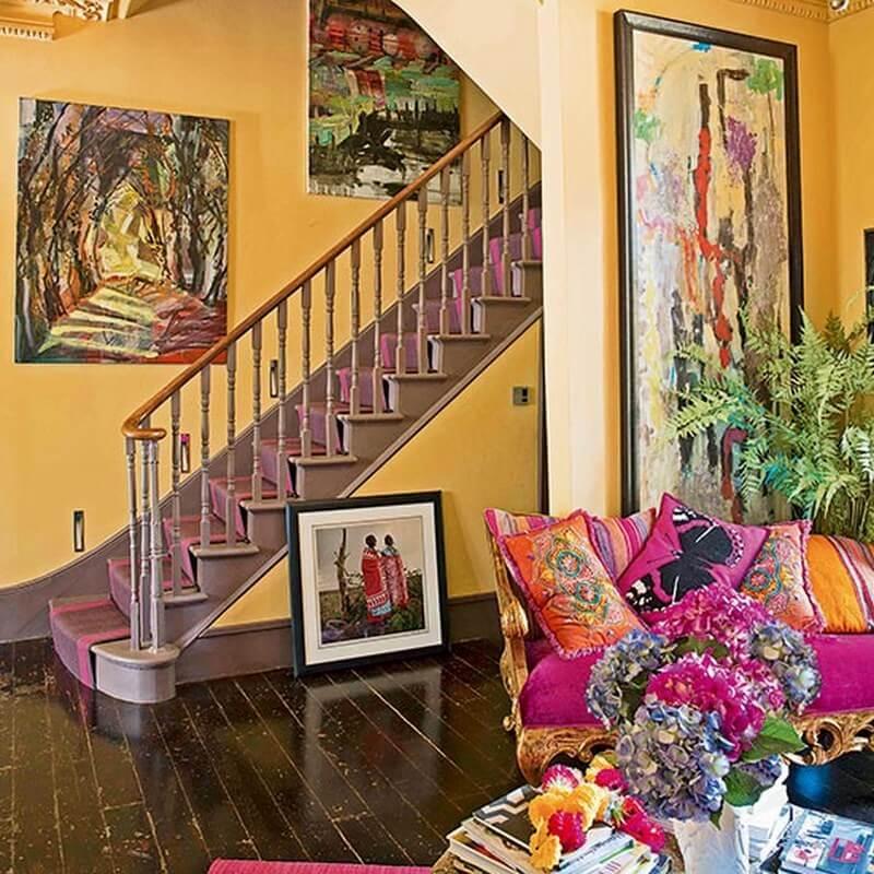 10 inspiring hallway interior design ideas https for Neon yellow wall paint