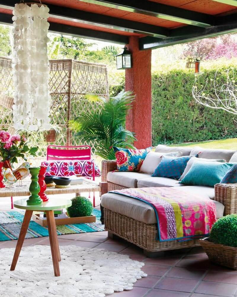 10 Charming Bohemian Patio Design Ideas - Interioridea.net on Bohemian Patio Ideas id=94522