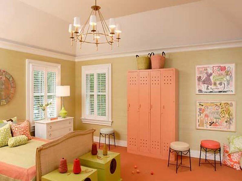 10 beautiful coral peach interior design ideas https - Peach color interior design ...