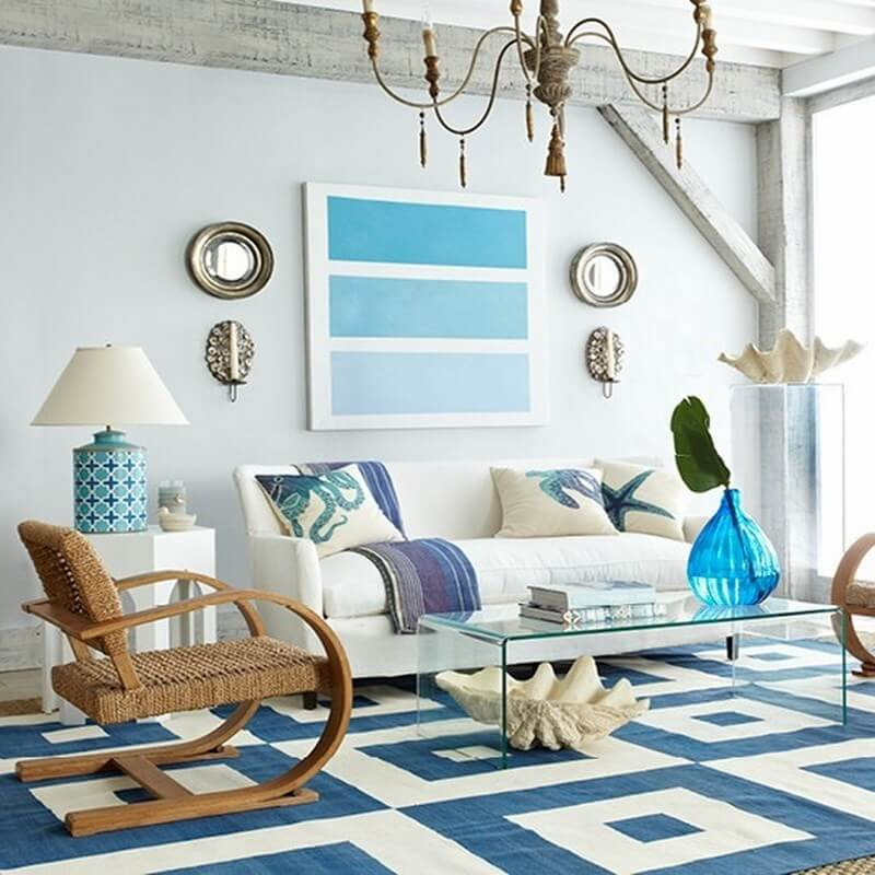 10 coastal inspired living room interior design ideas for Interior design beach theme