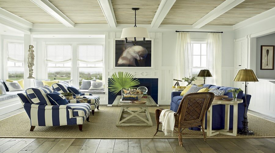 10 coastal inspired living room interior design ideas for Coastal living rooms ideas