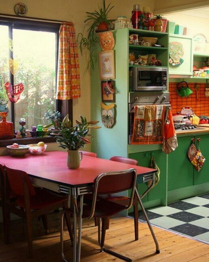 10 boho chic kitchen interior design ideas https for Colorful kitchen ideas