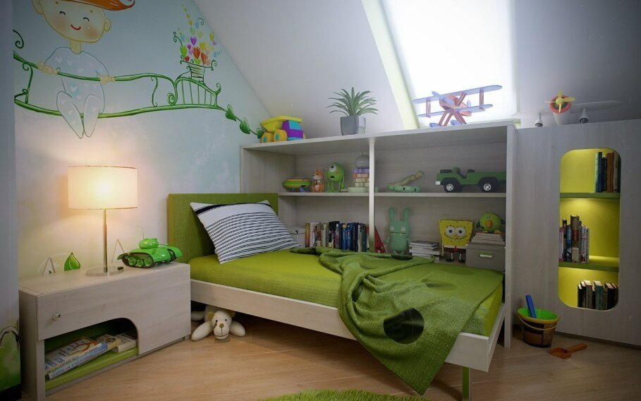 interesting Green Boy's Bedroom