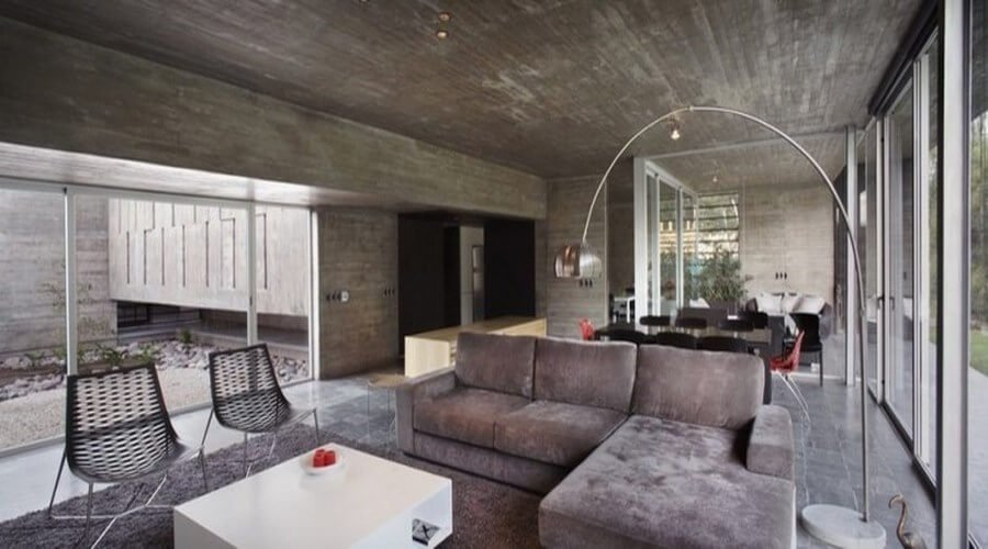 10 amazing living room interior design ideas with concrete walls - Industrial design interior ideas ...