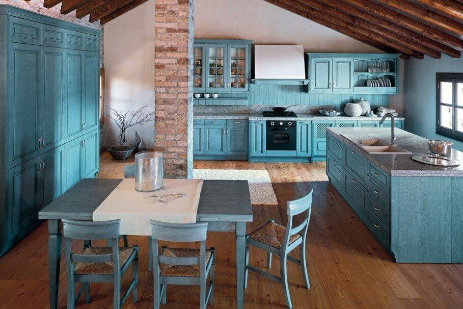 Amazing Blue Kitchen