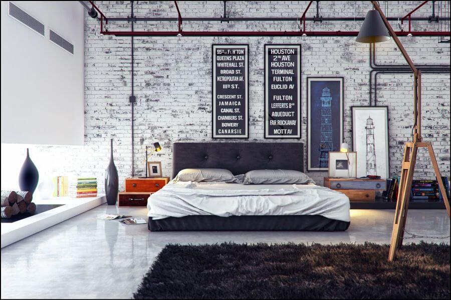 Artistic Industrial Bedroom