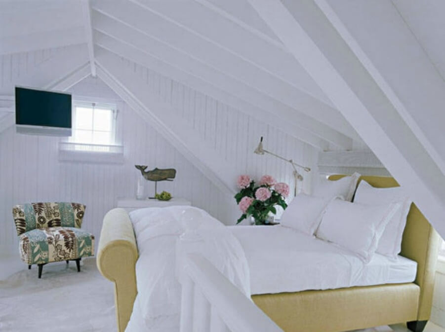 Attic Beach Bedroom