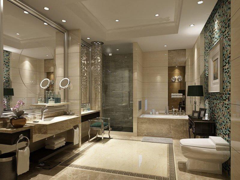Mẫu phòng tắm cổ điển phong cách Âu Châu tuyệt đẹp