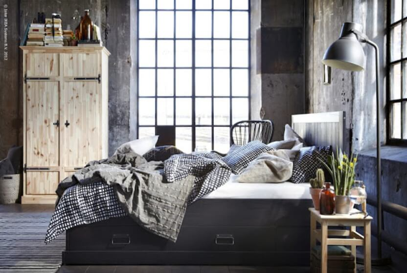 Bold Industrial Bedroom