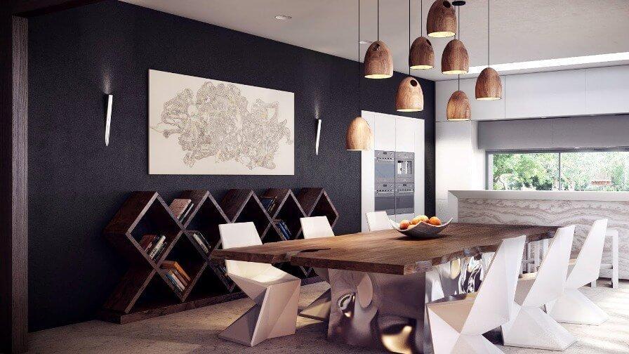 Bold Rustic Dining Room