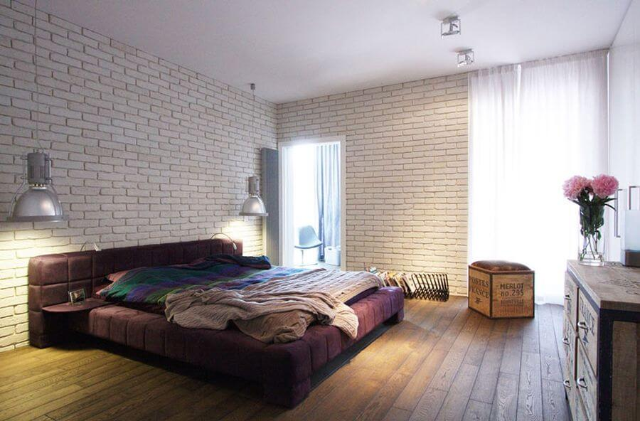 10 bold industrial bedroom interior design idea https for Bedroom w brick wall