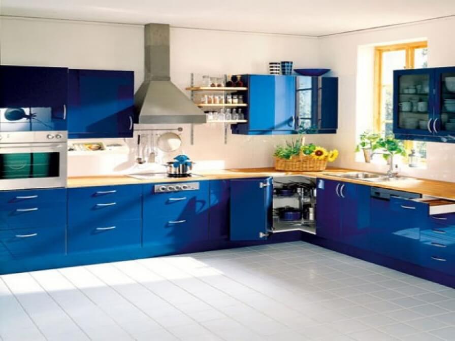 Charming Blue Kitchen