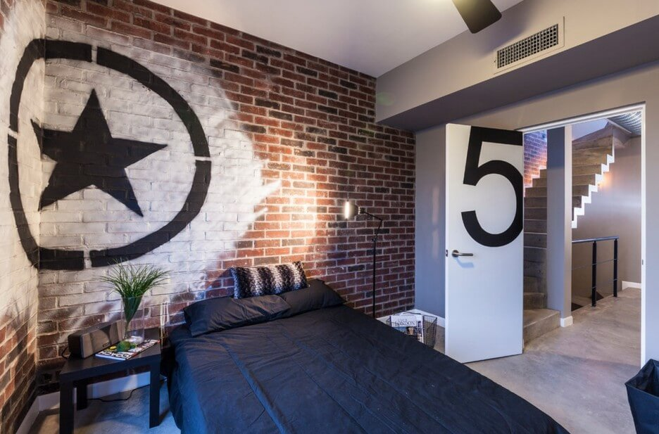 Charming Industrial Bedroom