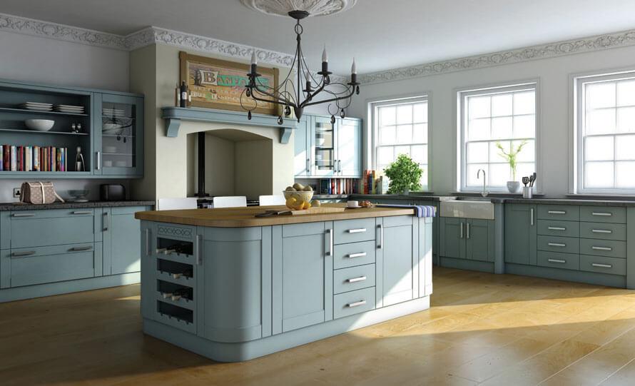 Classy Blue Kitchen