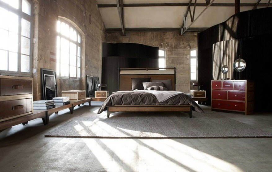Cool Industrial Bedroom