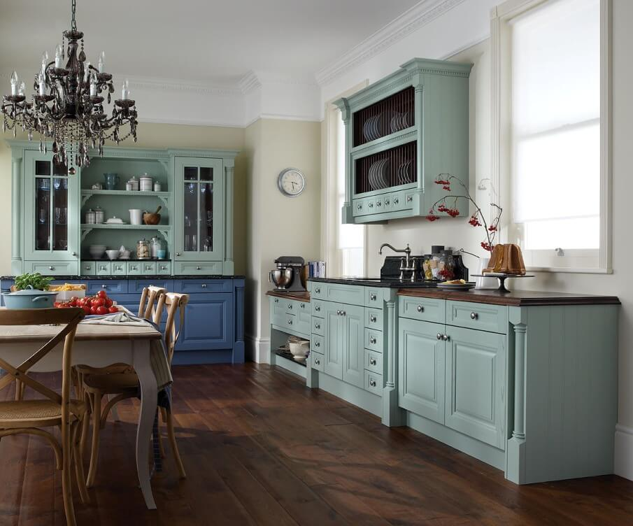 Country Blue Kitchen