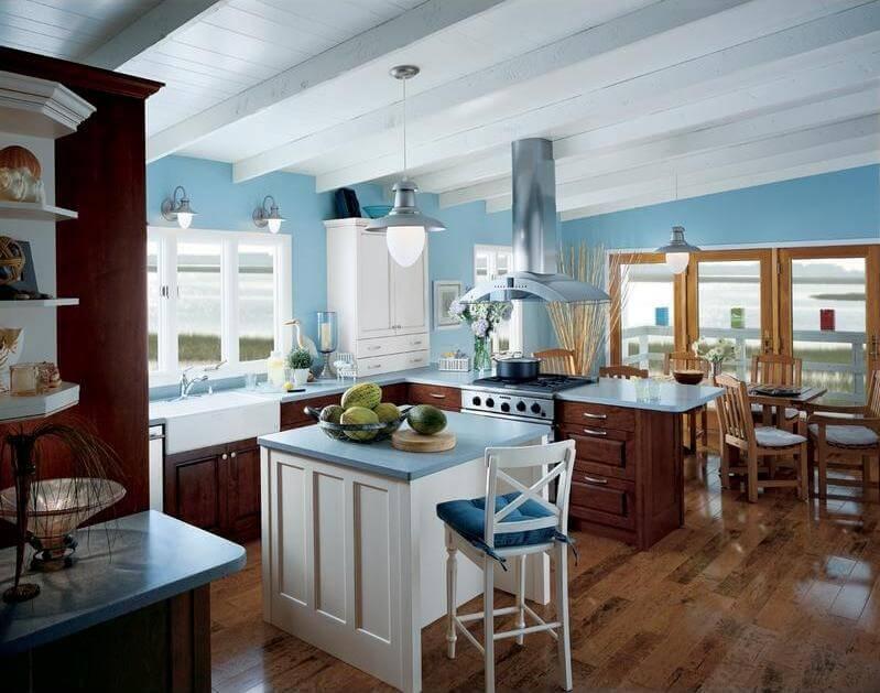 Elegant Blue Kitchen