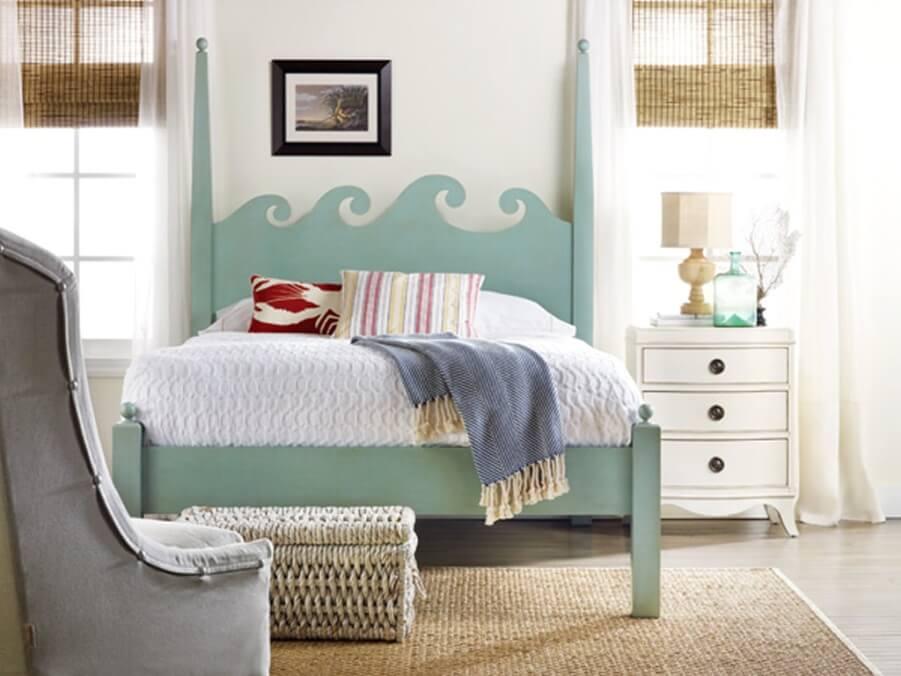 Fresh Beach Inspired Bedroom
