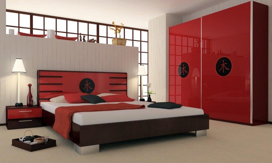 Japaneese Red Bedroom
