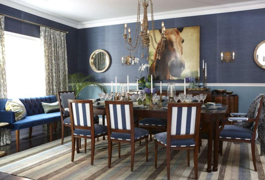 10 refreshing blue dining room interior design ideas https