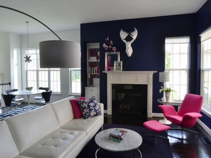 10 captivating interior design ideas with fuchsia accents. Black Bedroom Furniture Sets. Home Design Ideas