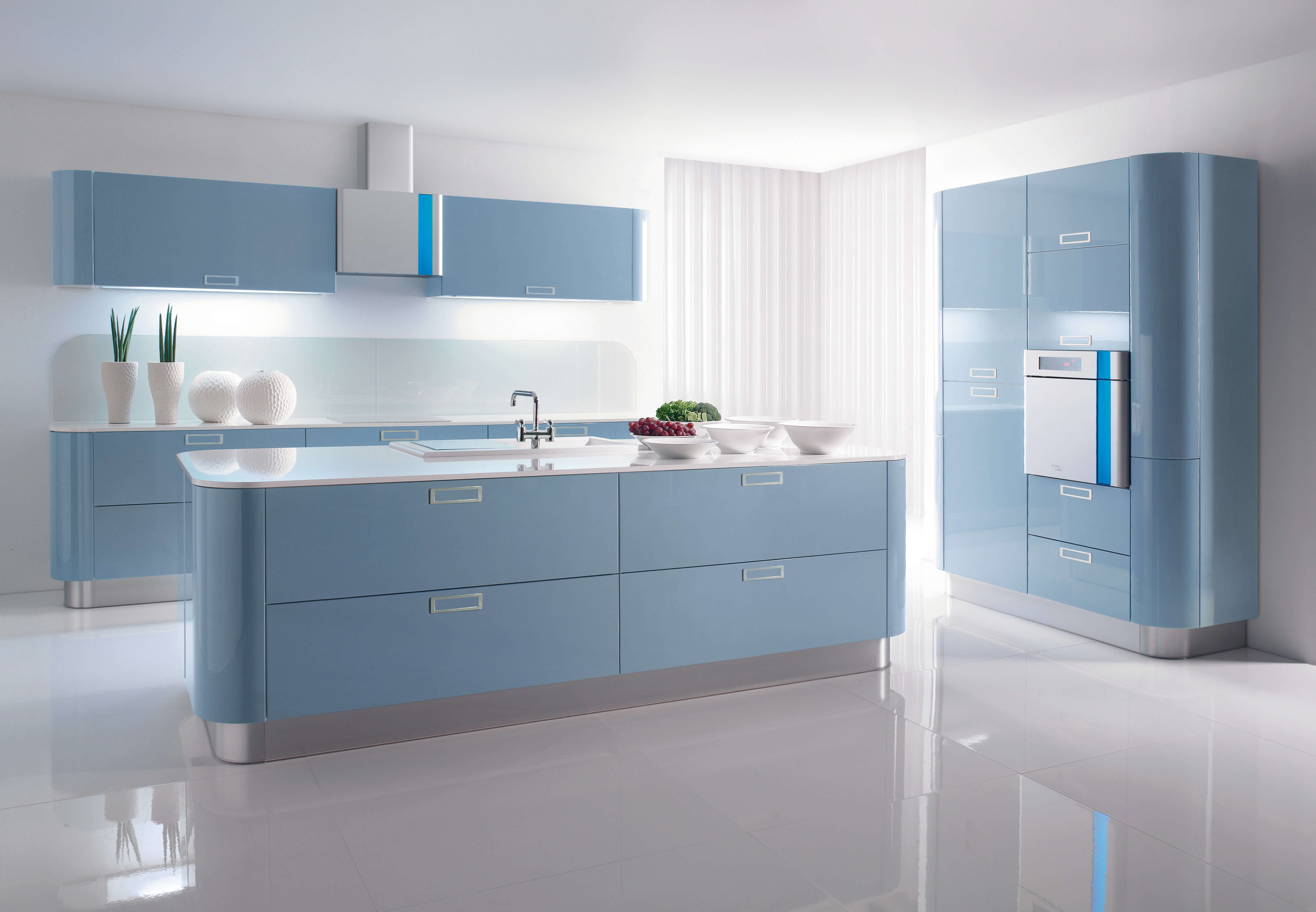 10 refreshing blue kitchen interior design ideas https for Kitchen ideaa