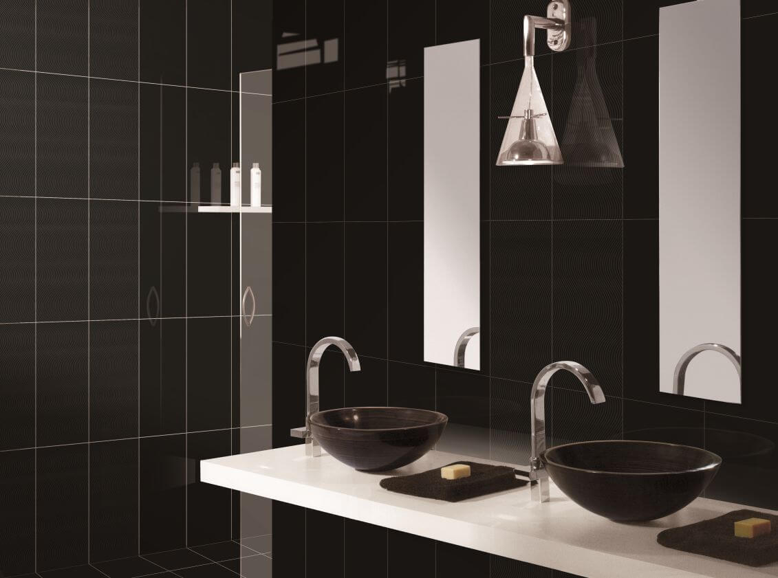10 bold black bathroom interior design ideas https for Bathroom design black