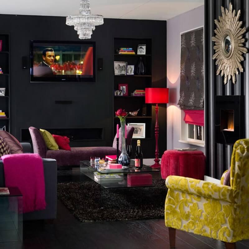 10 stylish dark living room interior design ideas   https ...